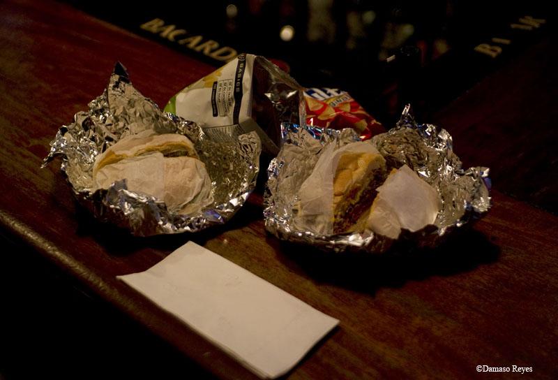 sandwiches on bar