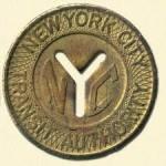 NYC subway token