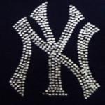NY logo rhinestones