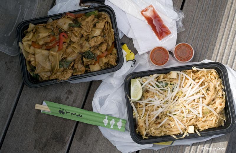 Chelsea Thai basil pork noodles & pad Thai