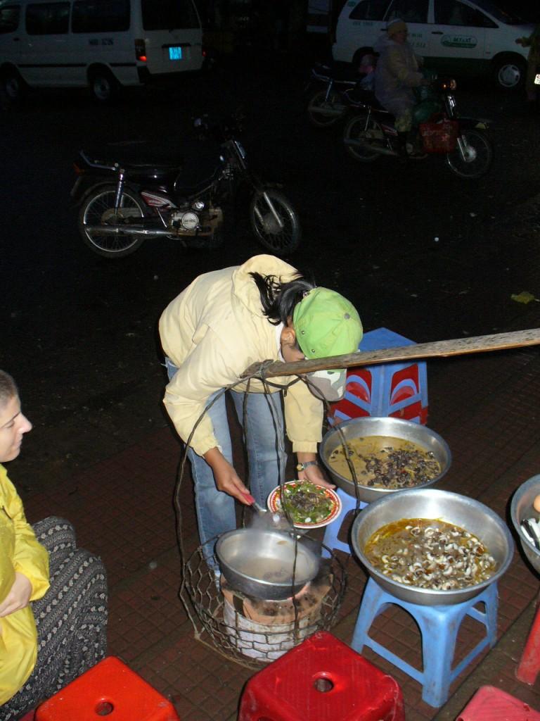Snails in night market