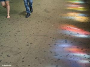 Platform light through art