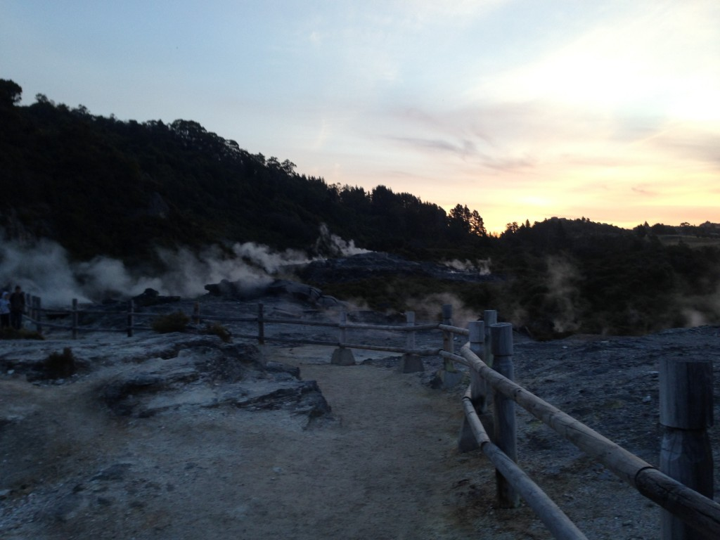 Thermal steam, Rotorua, NZ