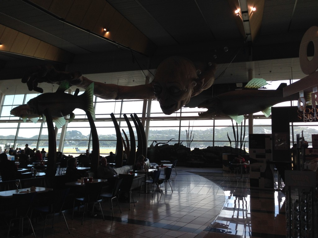 Gollum at Wellington Airport, NZ