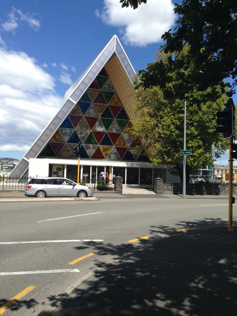Cardboard cathedral, Christchurch, NZ