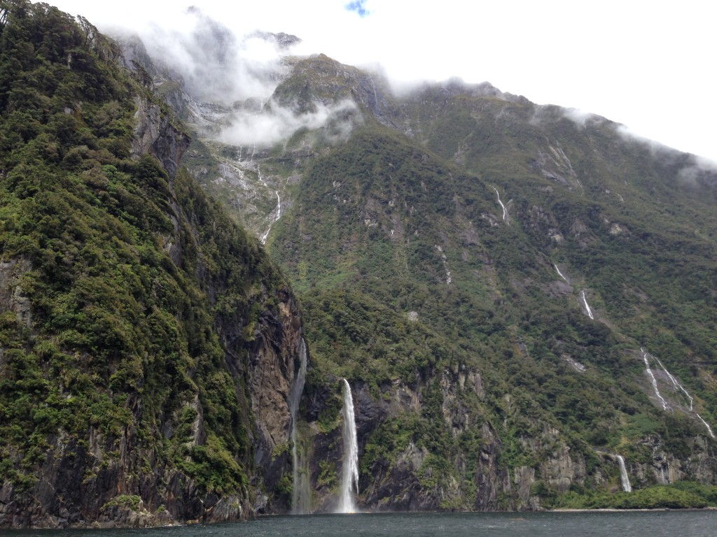 Waterfall, Fjordland National Park, NZ