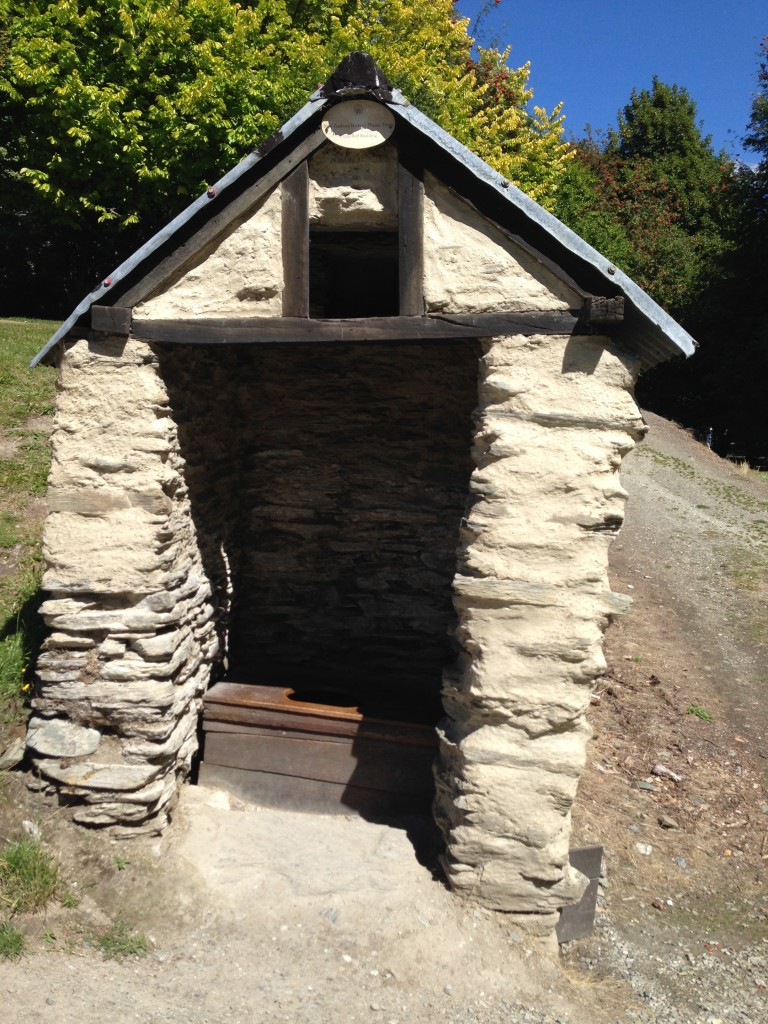 Outhouse, Chinese settlement, Arrowtown, NZ