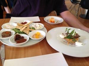 Chef's tasting plate & kangaroo, Charcoal Lane, Melbourne, Australia