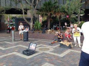 Street performers, Circular Quay, Sydney