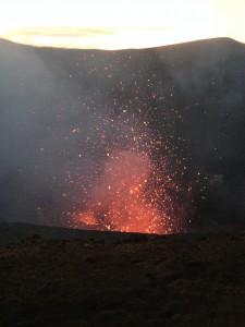 Lava, hot