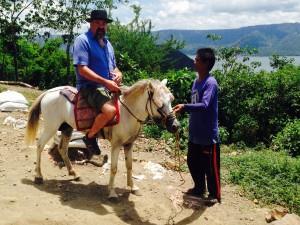David on his horse