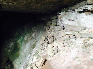 Lots of coffins in cave