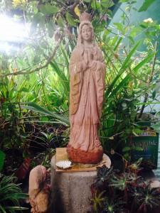 Figurine on terrace